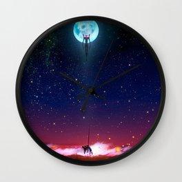 Evangelion Moon Wall Clock