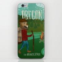 oregon iPhone & iPod Skins featuring Oregon by Santiago Uceda