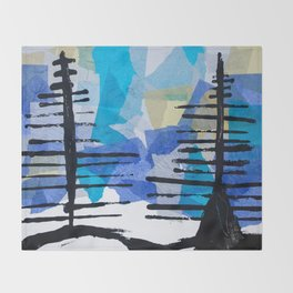 Fir Trees Throw Blanket
