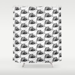 Snails Drawing/Pattern Shower Curtain