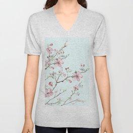 Apple Blossom #society6 #buyart Unisex V-Neck