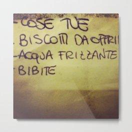 lista_della_spesa Metal Print