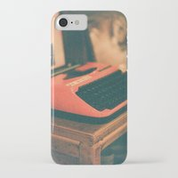 typewriter iPhone & iPod Cases featuring Typewriter by Cheryl Cha-Cyn