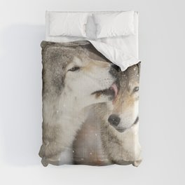 Wolf Kisses Comforters