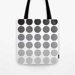 Monochrome Grey Circles Tote Bag