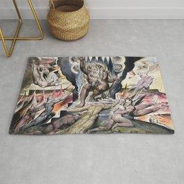 "William Blake ""Illustrations to Dante's Divine Comedy - Minos"" Rug"