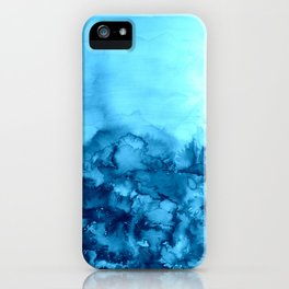 INTO ETERNITY, TURQUOISE Colorful Aqua Blue Watercolor Painting Abstract Art Floral Landscape Nature iPhone Case