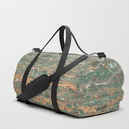 fluid coppered teal Duffle Bag