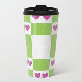 VALENTINES FABRIC PATTERN Travel Mug