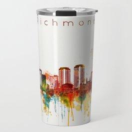 Watercolor Richmond Virginia Skyline Travel Mug