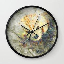 Artistic Animal Red Panda Wall Clock