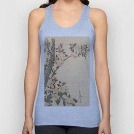Hokusai, flowers of a cherry-tree- manga, japan,hokusai,japanese,北斎,ミュージシャン Unisex Tank Top