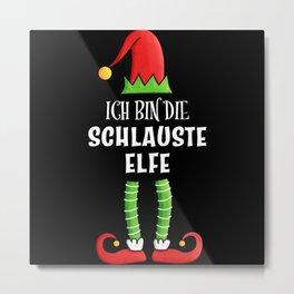 Schlauste Elfe Partnerlook Weihnachten Metal Print