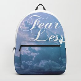 Fearless in a beautiful cloudy sky Backpack