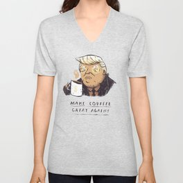 make covfefe great again! trump print Unisex V-Neck