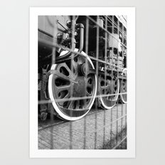 The Wheels are Turning Art Print