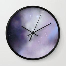 purple galaxy digital painting Wall Clock