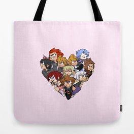 Trio Heart Tote Bag