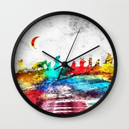 The Fellowship of the Ring Grunge Wall Clock