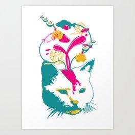 Liquid thoughts:Cat Art Print