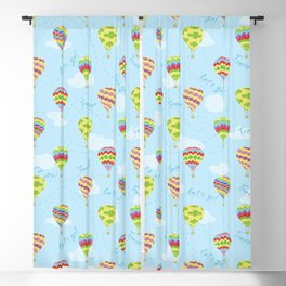 Hot Air Balloons Pattern Let's Go Travel Blackout Curtain