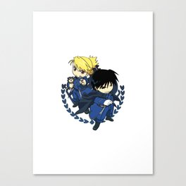 Roy and Riza, State Alchemists Canvas Print