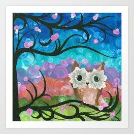 OwlArtwork By MiMi Stirn - Owl Expressions #360 Art Print