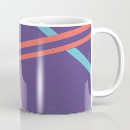 Tangents - Coral, Blue and Violet Hard Edge Abstract Coffee Mug