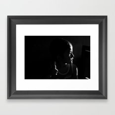 In the shade Framed Art Print