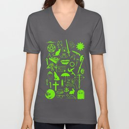 Buffy Symbology, Green Unisex V-Neck