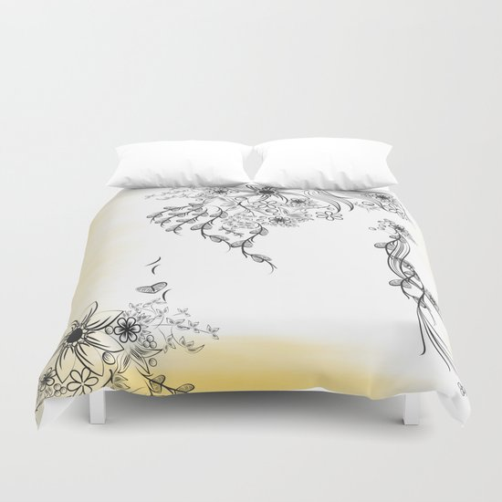 Floral to Floral Duvet Cover