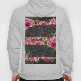 Pink Roses Pattern 10 Hoody
