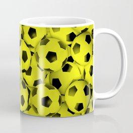 Yellow Soccer Balls Everywhere Coffee Mug
