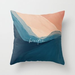 breathe. Throw Pillow