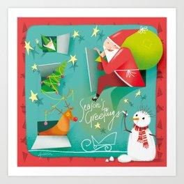 Christmas Calendar Art Print