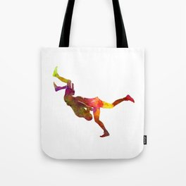 Wrestlers wrestling men 02 in watercolor Tote Bag