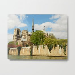 Notre Dame and the River Seine Metal Print