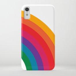 Retro Bright Rainbow - Right Side iPhone Case