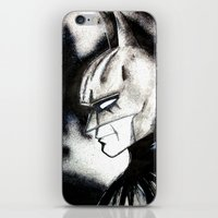 bat man iPhone & iPod Skins featuring bat man by Tufty Cookie
