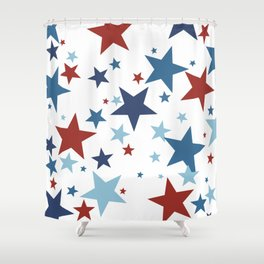 Stars - Red, White and Blue Shower Curtain