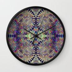 84-26-49 (Mandala Glitch) Wall Clock