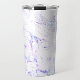 Pastel Marble Purple Blue Glitter Travel Mug
