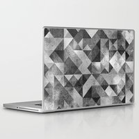 matrix Laptop & iPad Skins featuring moon matrix by Kingu Omega
