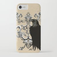 raven iPhone & iPod Cases featuring Raven by Кaterina Кalinich