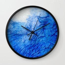 Blue white resin art Wall Clock