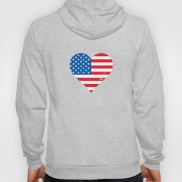 American Flag Heart - Independence Day Star And Stripes Hoody