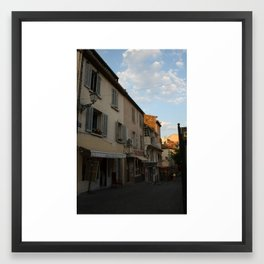 French Alley in Saint Tropez in the South of France, the Riviera en Provence ambiance was key! Framed Art Print