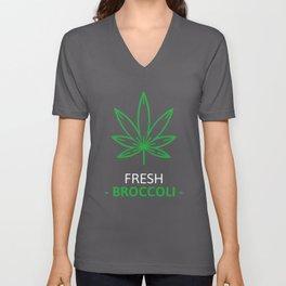 Fresh Broccoli Cannabis Unisex V-Neck