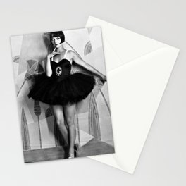 Louise Brooks, The Girl That Danced the Charleston, Jazz Age Flapper black and white photography - photographs wall decor Stationery Cards