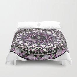 Sahasrara. Crown chakra mandala Duvet Cover
